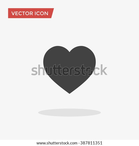heart icon in trendy flat style