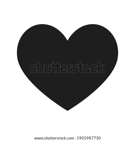 Heart icon. Isolated over white background. Love symbol.
