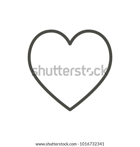 Heart icon, line vector. Outline love symbol.
