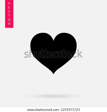 Heart icon, logo on white background