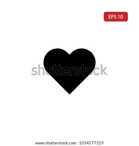 Heart icon,love vector,romance sign isolated on white background.Simple black heart icon illustration for graphic, web and mobile platforms.