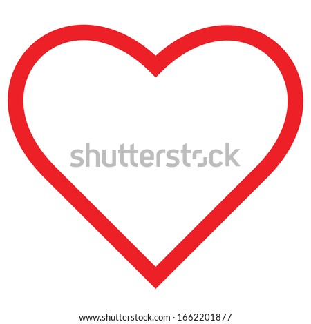 heart icon outline isolated vector illustration