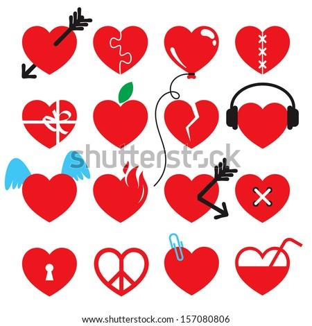 heart icon set