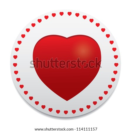 Heart icon. Vector