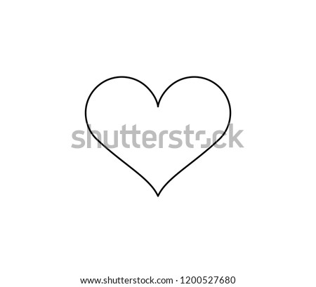 Heart icon . Vector