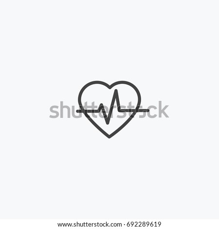 Heart icon vector, can be used for web and mobile design