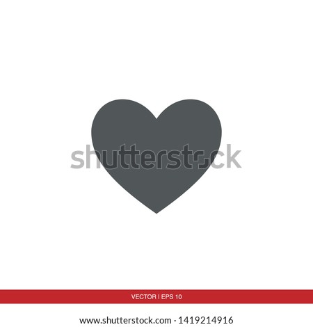 heart icon vector eps 10