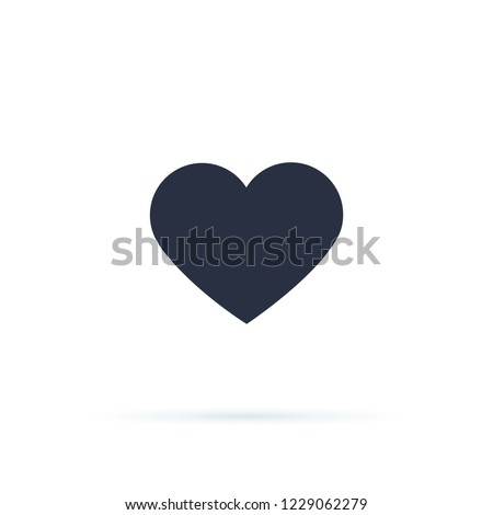 Heart icon vector 10 eps design. Like and Heart icon. Upvote likes buttons. Social nets red heart web buttons isolated on white background. Vector illustaration. Active and not button social network