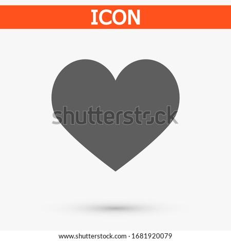 Heart icon vector 10 eps design. lorem ipsum Flat Design JPG