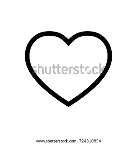 Heart Icon Vector Fat Design Editable Stroke. 512x512 Pixel Perfect.