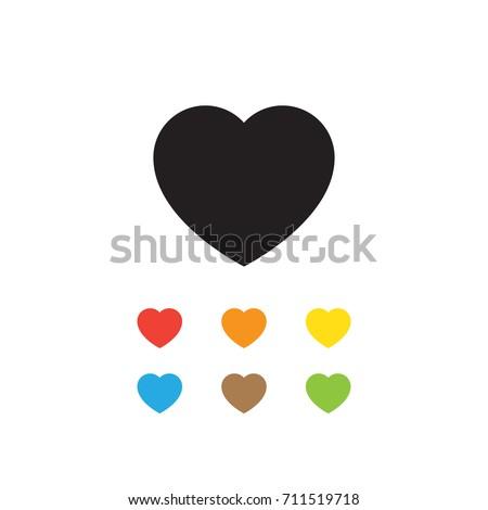 Heart icon vector illustration.