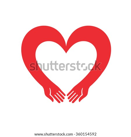 Heart Icon Vector. Illustration for Valentine's Day, can serve as a decoration or logo