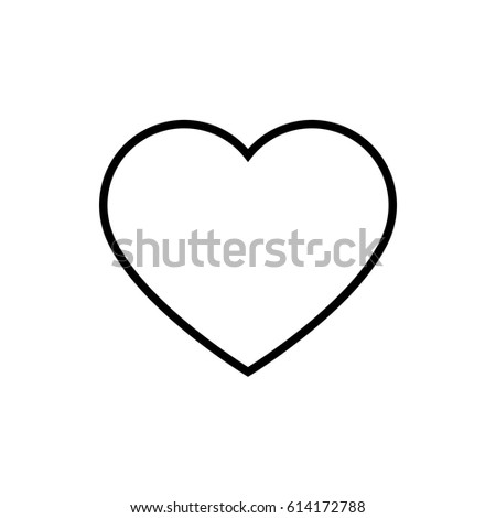 Heart icon vector illustration. Linear symbol with thin outline. The thickness is edited. Minimalist style. Exclusive quality of execution in material design. Line thickness 20 px