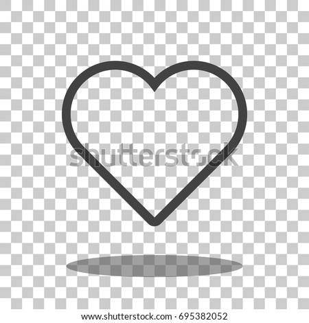 heart icon vector isolated