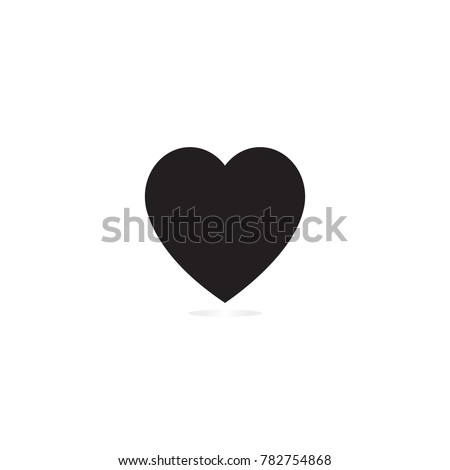 Heart Icon Vector. Love symbol. Valentine's Day sign, emblem isolated on white background, Flat style for graphic and web design, logo. EPS10 pictogram