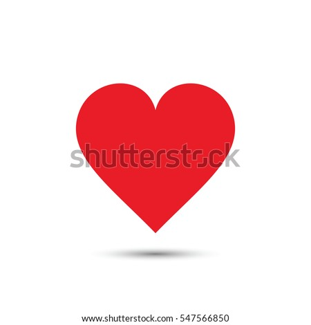 heart icon  vector red simple