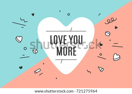 heart icon with text love you
