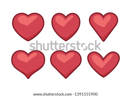 heart icons, concept of love