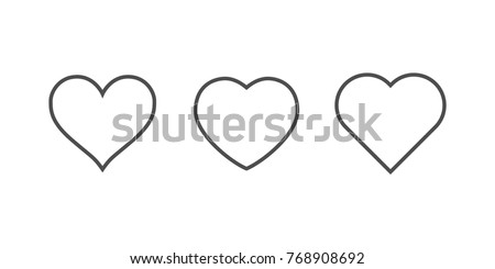 heart icons  concept of love