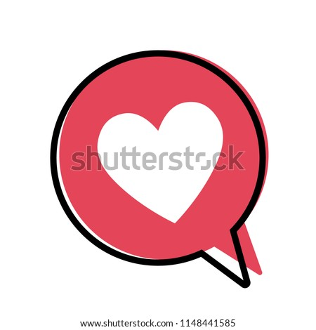 heart in a red speech bubble