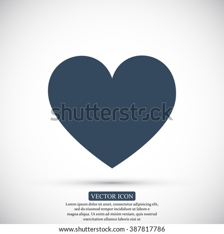 heart in love icon vector