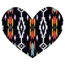 Heart in the ethnic style on a holiday Valentine