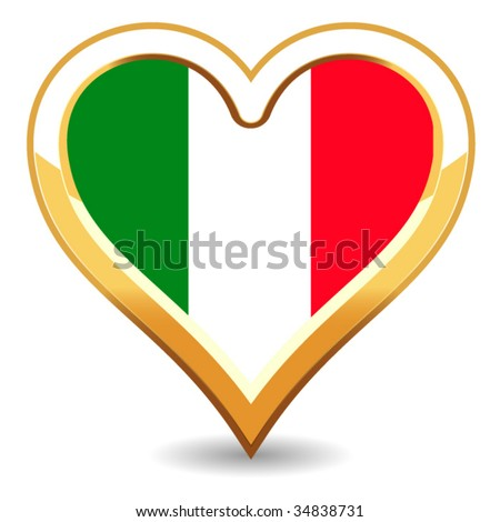 Zipper pull find the flag heart-shaped italian watch First tattoo this was