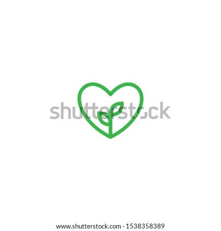 heart leaf logo  healthy heart