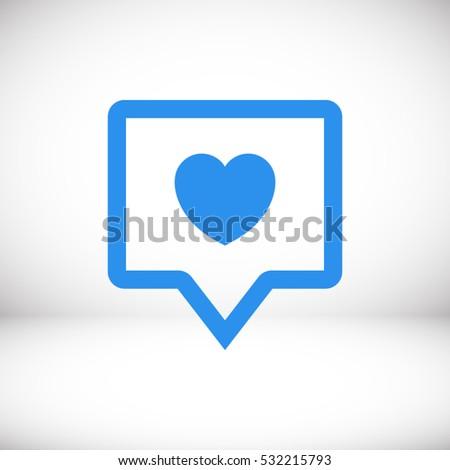 heart  like vector icon