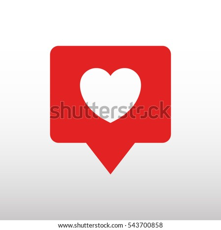 heart  like vector icon
