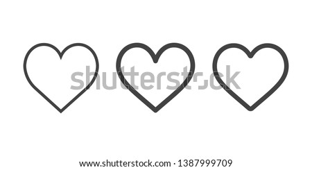 Heart line isolated on white background