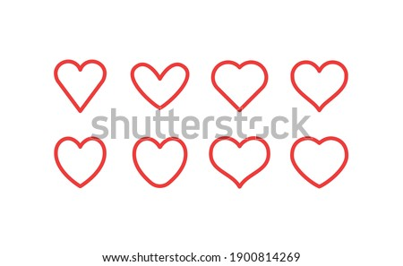 Heart linear icon. Valentine's day symbol. Hearts vector collection.