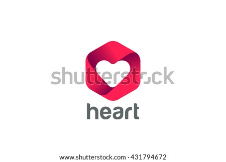 Heart Logo design vector template. Happy Valentines Day concept.