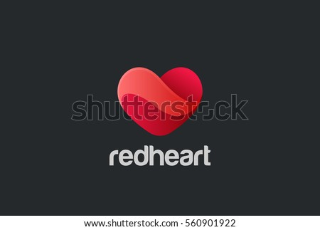Heart Logo design vector template. St. Valentine day of love symbol.