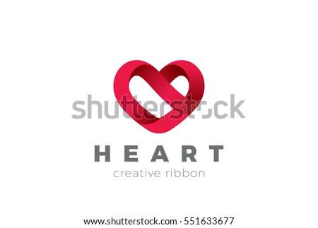 heart logo design vector