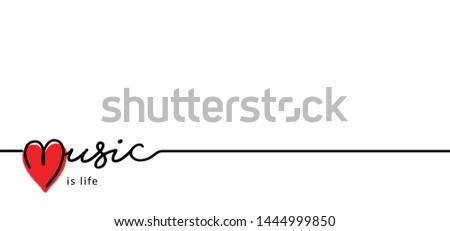 heart logo i love music is life