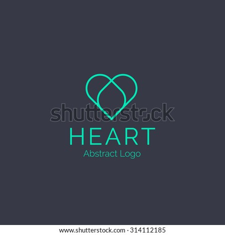 Heart logo template. Healthcare Corporate branding identity