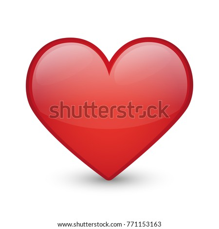 Heart Love Emoji Icon Object Symbol Gradient Vector Art Design Cartoon Isolated Background