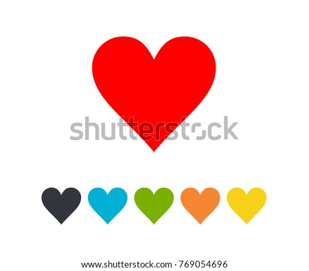 Heart love icon color eps 10