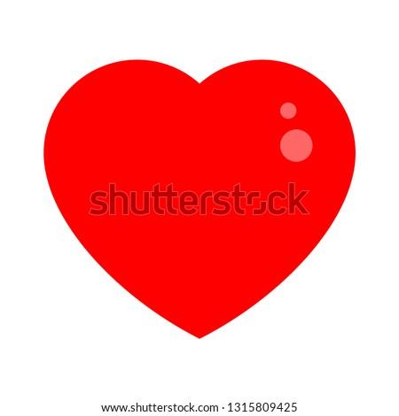 heart love icon - heart symbol, valentine day - romance illustration isolated