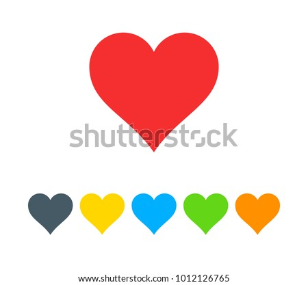 Heart love icon isolated on white background. colorful eps 10