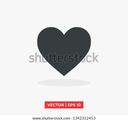 Heart Love Icon Vector Illustration