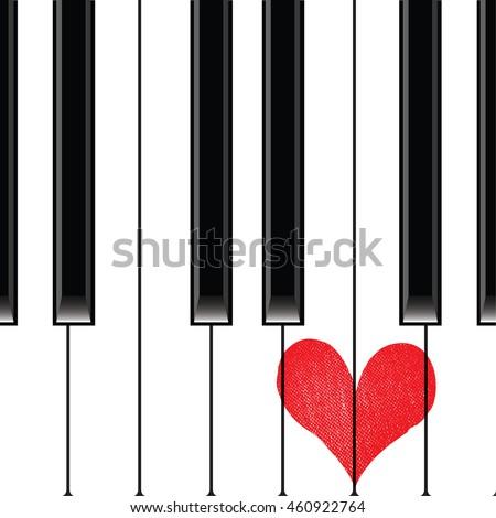 heart love music piano playing