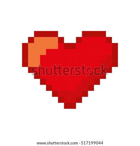 heart love pixelated icon