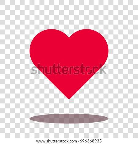 heart love valentine icon vector isolated