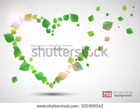 Heart made from leaves