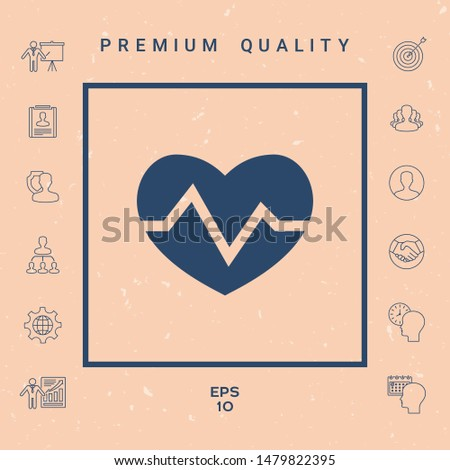 Heart medical icon. Graphic elements for your design