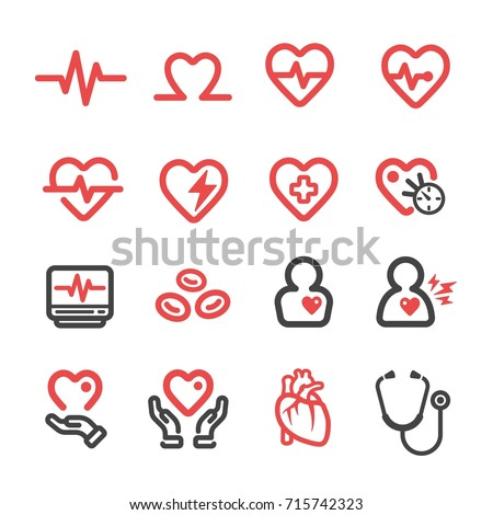 heart medical thin line icon