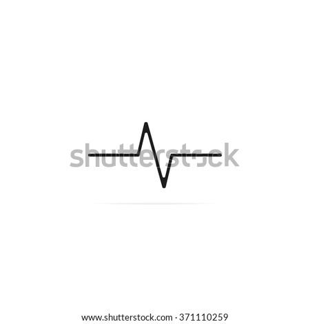 Heart monitor pulse line vector icon.