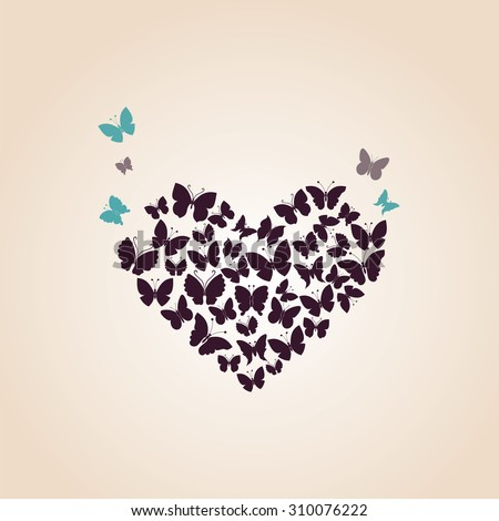heart of butterflies valentine